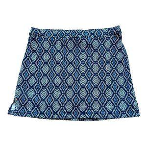 Rafaella Comfort Women's Stretch Skort Blue Mosaic